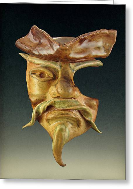Pirates Sculptures Greeting Cards - Swashbuckler #0002 Greeting Card by Diana Lee