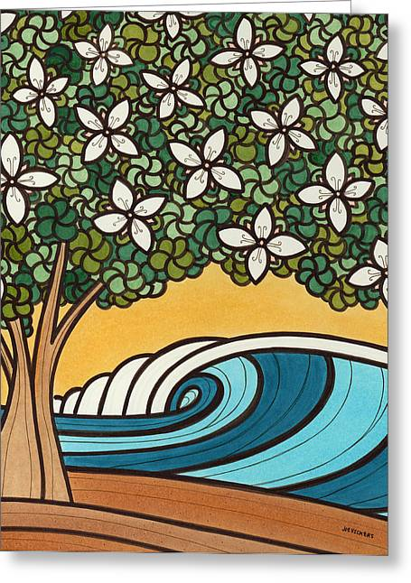 York Beach Mixed Media Greeting Cards - Swell Blossoms Greeting Card by Joe Vickers