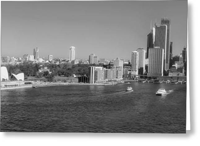 Recently Sold -  - Historic Ship Greeting Cards - Sydney Harbor Panorama Greeting Card by Mountain Dreams