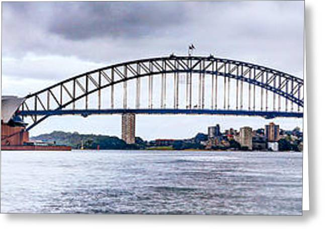 Vale Greeting Cards - Sydney Harbour Greeting Card by Gene Yu