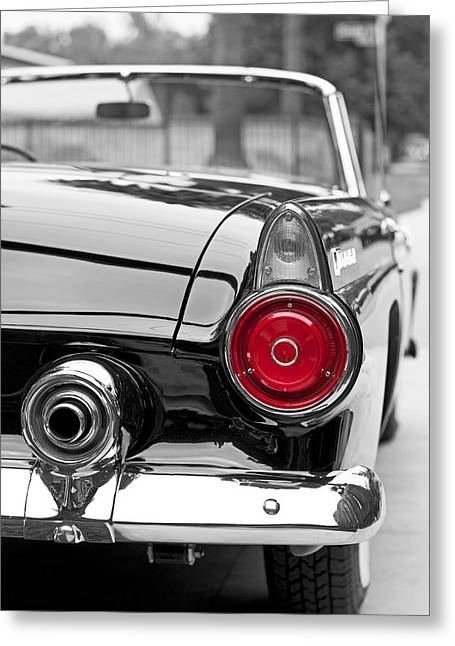 Stop Light Greeting Cards - T Bird Greeting Card by Art K