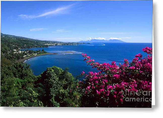 Ocean Shore Greeting Cards - Tahiti Greeting Card by Bill Bachmann