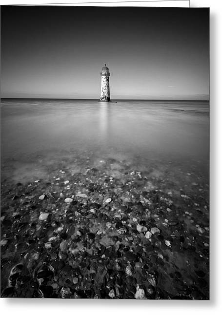 Disused Greeting Cards - Talacre Lighthouse Greeting Card by Dave Bowman