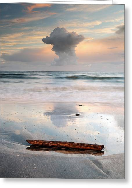 Cloud Formations. Cloud Photography Greeting Cards - Talisker bay Sunset Greeting Card by Grant Glendinning