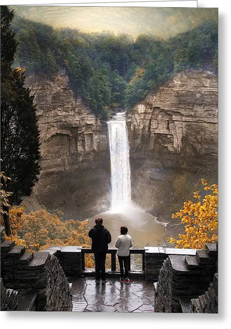 Finger Lakes Region Greeting Cards - Taughannock Falls Greeting Card by Jessica Jenney