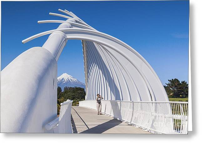 Taking Photographs Greeting Cards - Te Rewa Rewa Bridge Taranaki New Zealand Greeting Card by Colin and Linda McKie