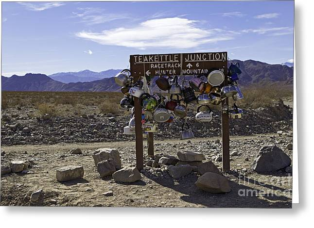 Teakettle Junction Death Valley Greeting Card by Jerry Fornarotto