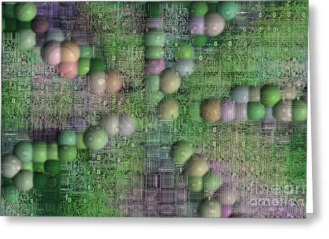 technology abstract background Greeting Card by Michal Boubin