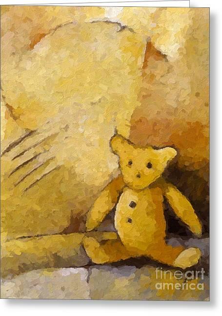 Teddybear Greeting Cards - Teddy Greeting Card by Lutz Baar