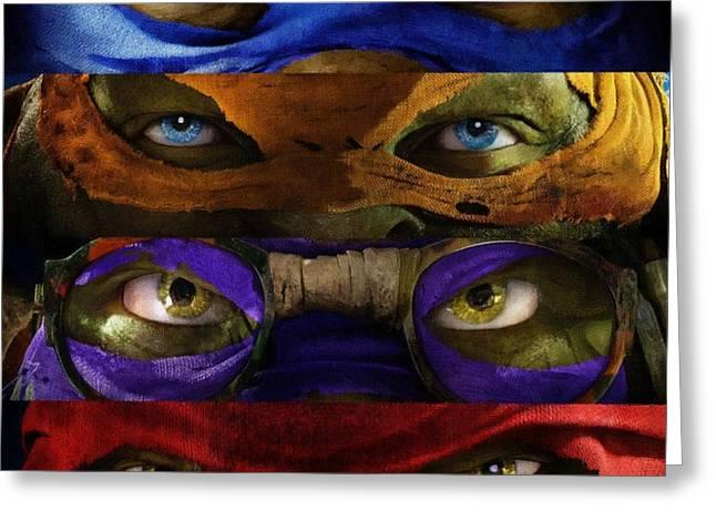 Michelangelo Greeting Cards - Teenage Mutant Ninja Turtles Greeting Card by Victor Gladkiy