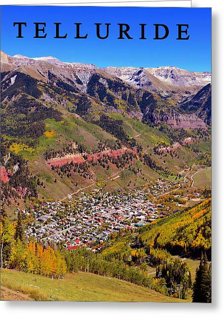 Rocky Mountain Posters Greeting Cards - Telluride Greeting Card by David Lee Thompson