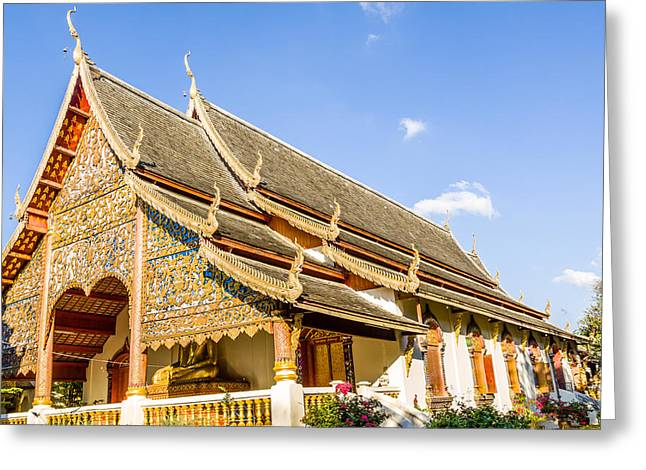 Thai Antiquities Greeting Cards - Temple Greeting Card by Aoshi Vn