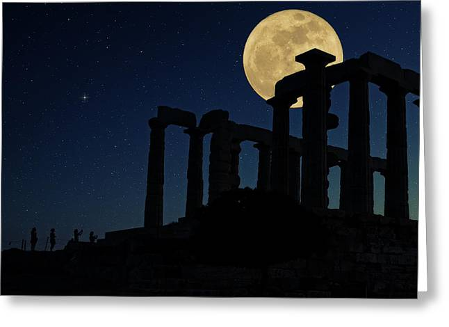 Temple Of Poseidon  Greeting Card by Emmanuel Panagiotakis