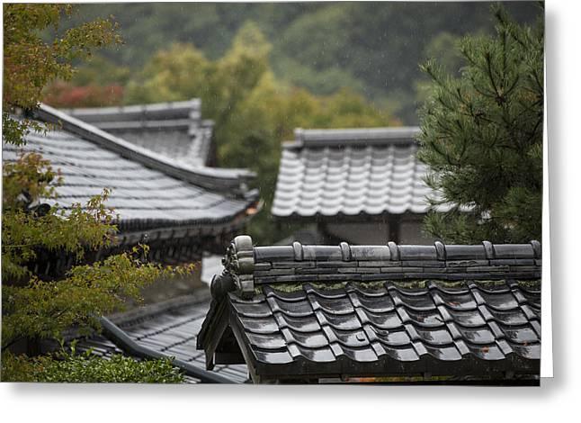 Arashiyama Greeting Cards - Tenryu-ji temple Greeting Card by Ruben Vicente