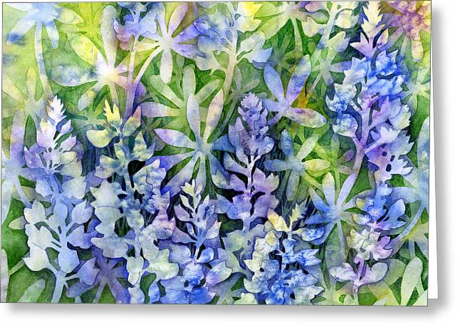 Texas Wild Flowers Greeting Cards - Texas Blues  Greeting Card by Hailey E Herrera