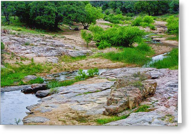 Grau Greeting Cards - Texas Marble Landscape Greeting Card by Linda Phelps