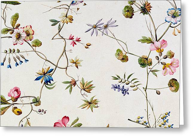 Textile design Greeting Card by William Kilburn