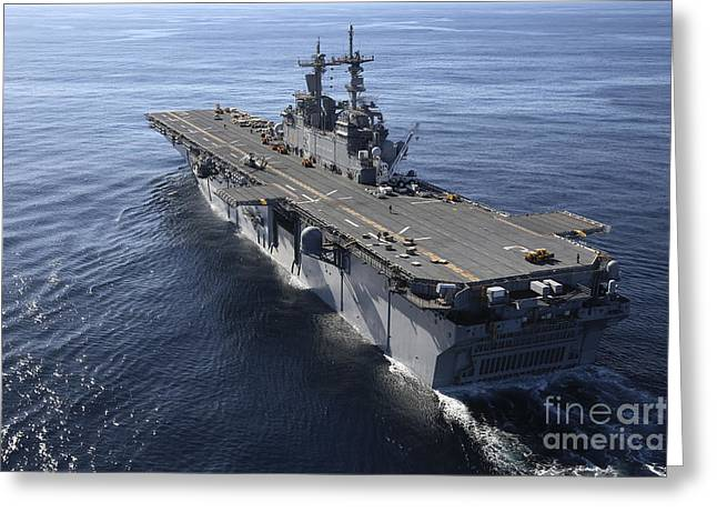 Trial Greeting Cards - The Amphibious Assault Ship Uss Greeting Card by Stocktrek Images