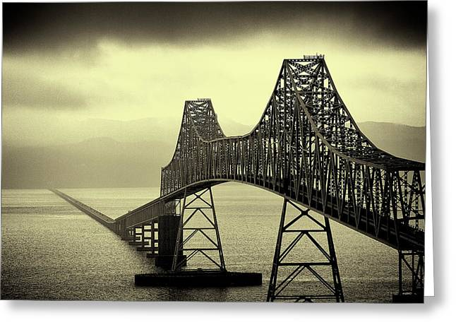 David Patterson Greeting Cards - The Astoria Bridge Greeting Card by David Patterson