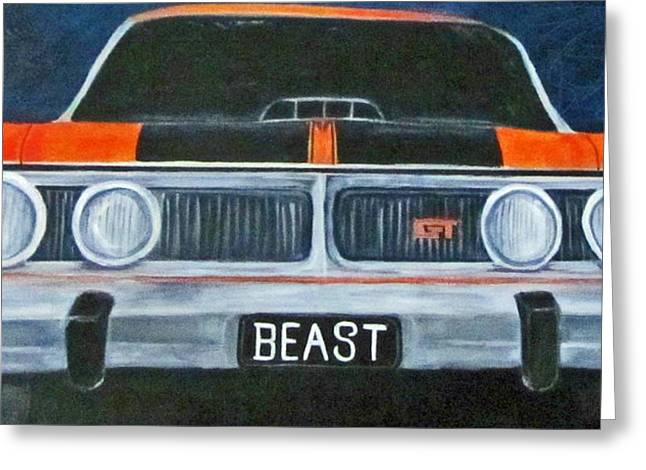 Grunts Paintings Greeting Cards - The Beast Greeting Card by Merlene Pozzi