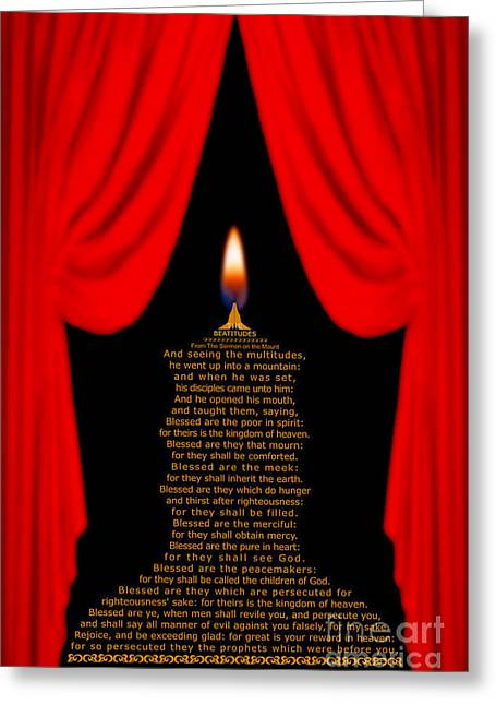 Sermon On The Mount Print Greeting Cards - The Beatitudes Greeting Card by Emanuel Asante Jr