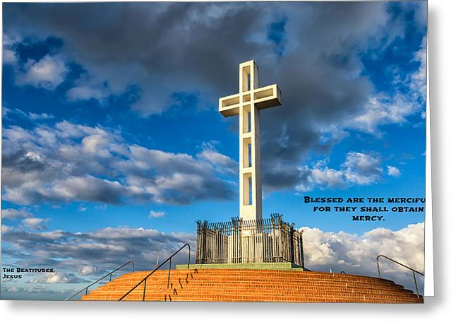 Forgiveness Photographs Greeting Cards - The Beatitudes Greeting Card by Joseph S Giacalone