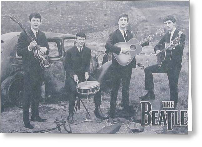 John Lennon Photographs Greeting Cards - The Beatles Greeting Card by Donna Wilson
