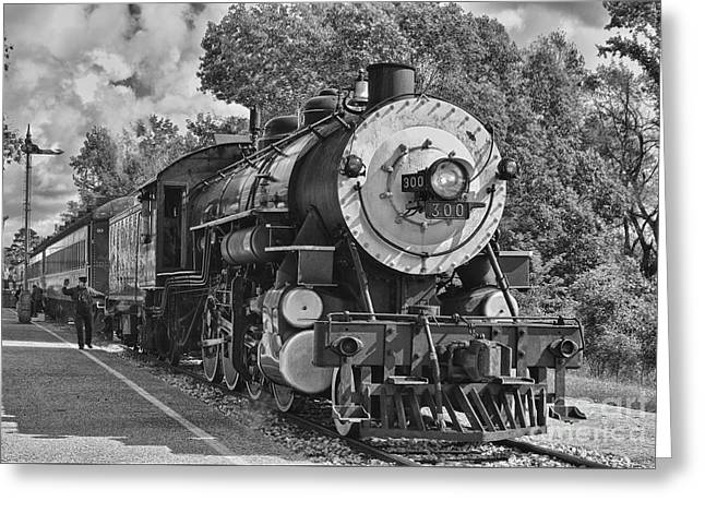 The Brakeman Greeting Card by Robert Frederick