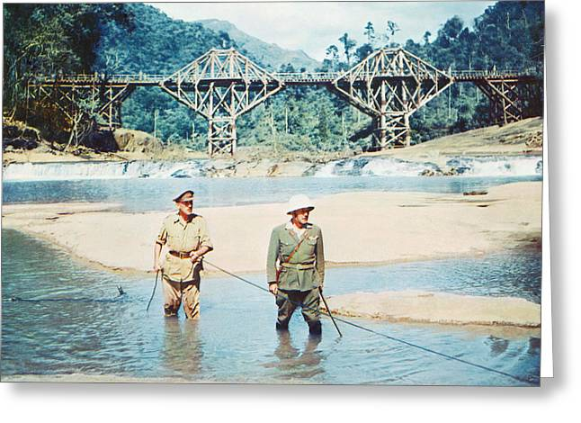 1950 Movies Greeting Cards - The Bridge on the River Kwai Greeting Card by Silver Screen