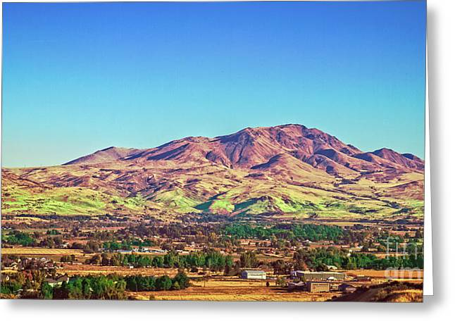 Haybale Greeting Cards - The Butte Greeting Card by Robert Bales