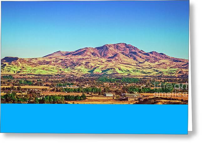 The Butte Greeting Card by Robert Bales