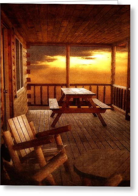 The Cabin Greeting Card by Joann Vitali