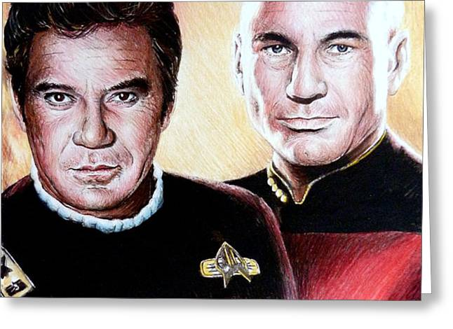 The Captains   Greeting Card by Andrew Read