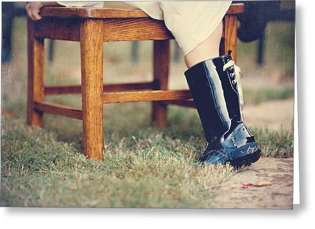 Black Boots Photographs Greeting Cards - The Climb Greeting Card by Lisa Russo