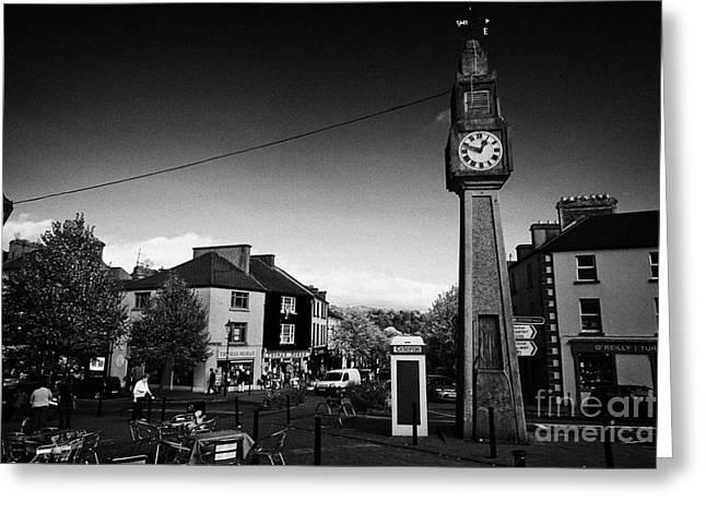 Westport Greeting Cards - The Clock At The Junction Of Bridge Street Mill Street High Street And Shop Street Westport County Mayo Republic Of Ireland Greeting Card by Joe Fox