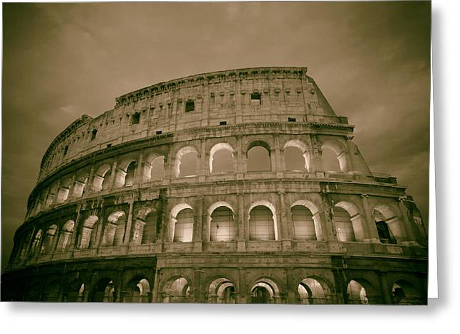 Italian Sunset Greeting Cards - The Colosseum - Rome Greeting Card by Mountain Dreams