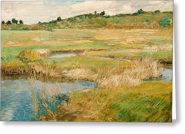 Concord. Historic Greeting Cards - The Concord Meadow Greeting Card by Childe Hassam