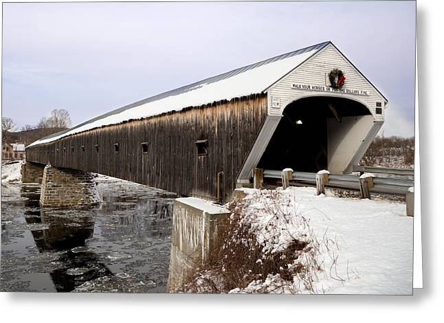 The Covered Bridge Greeting Card by Courtney Webster