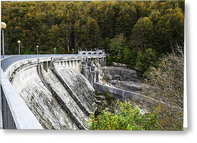 Green Day Greeting Cards - The dam Greeting Card by Tilyo Rusev