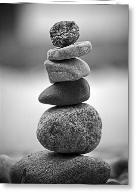 Zen Rock Stacking Greeting Cards - The Delicate Greeting Card by Matthew Blum