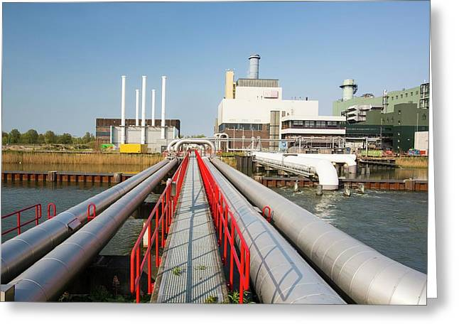 The Diemen Combined Heat And Power Plant Greeting Card by Ashley Cooper