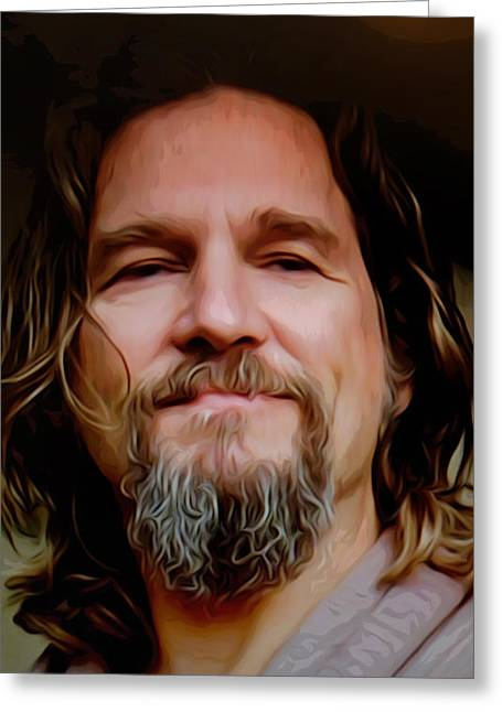 Big Lebowski Photographs Greeting Cards - The Dude Greeting Card by Guido Prussia