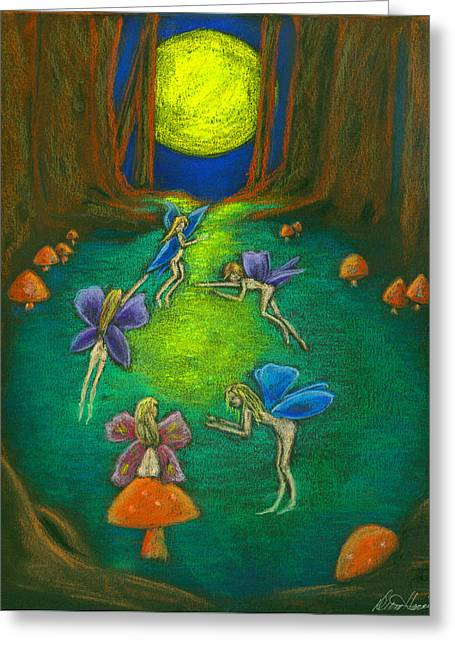 Fairy Pastels Greeting Cards - The Faery Ring Greeting Card by Diana Haronis