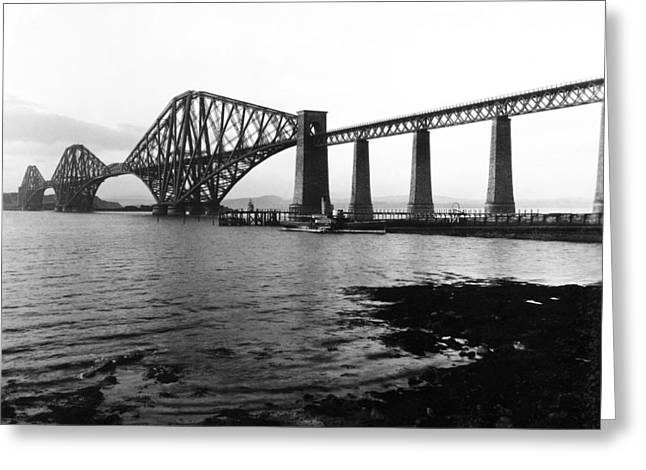 The Forth Bridge Greeting Card by Underwood Archives