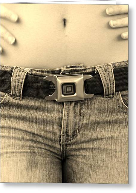 Hip Belt Greeting Cards - THE G M BELT in SEPIA Greeting Card by Rob Hans