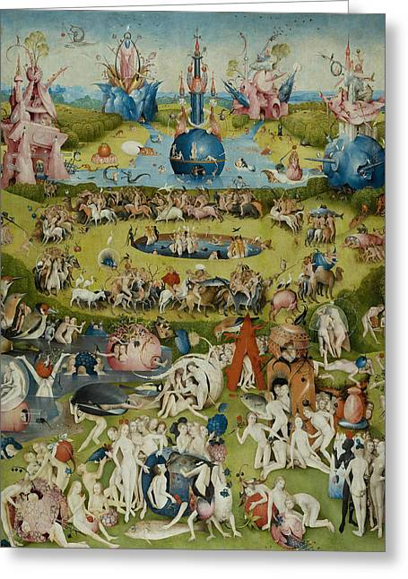 Earthly Greeting Cards - The Garden of Earthly Delights Greeting Card by Hieronymus Bosch