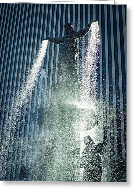 City Buildings Greeting Cards - The Genius of Water  Greeting Card by Scott Meyer