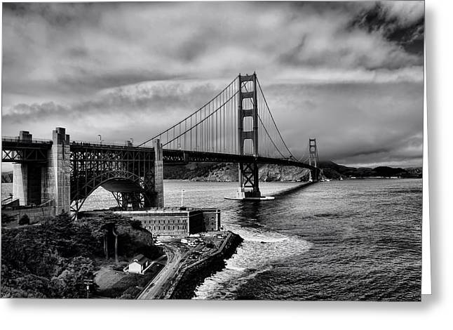 Recently Sold -  - Famous Bridge Greeting Cards - The Golden Gate Bridge Greeting Card by Mountain Dreams
