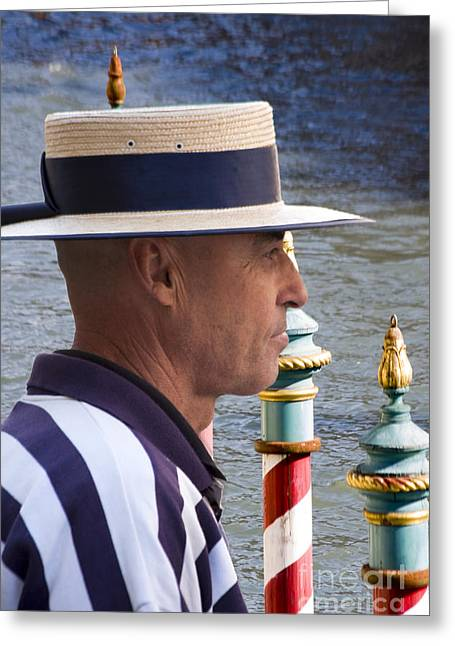 Gondolier Greeting Cards - The Gondolier Greeting Card by Heiko Koehrer-Wagner