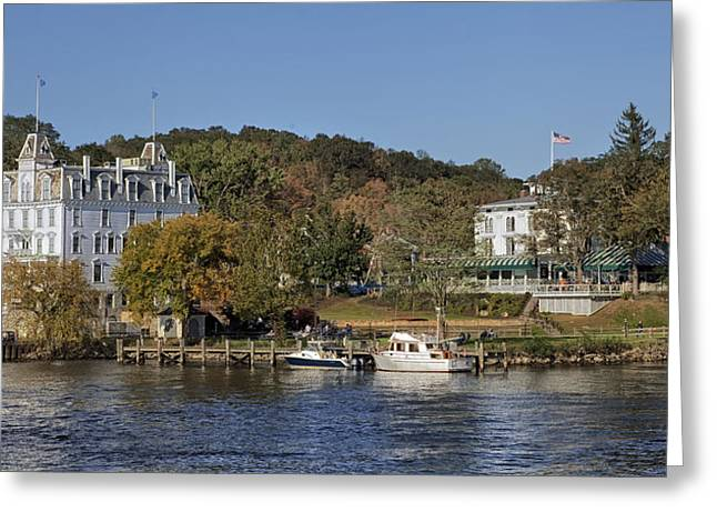 East Haddam Connecticut Greeting Cards - The Goodspeed Opera House Greeting Card by Mountain Dreams